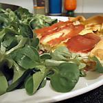 recette Tarte aux poireaux,tome et jambon serrano