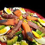 recette Sashimi Salad ! Faites le plein d'Omegas 3 !