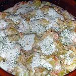 recette Gratin de pommes de terre au saumon fumé