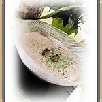 recette CREME DE CHAMPIGNONS AU BOURSIN AU POIVRE (soupe)