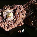 recette Gâteaux au chocolat & noisette, coeur de Ferrero Rocher