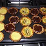 recette tartelettes(citron,chocolat,kiwi)