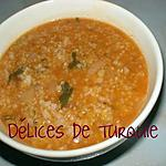 recette Soupe boulgour - riz - lentilles