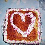 Mon gateau au yaourt pour la st valentin