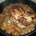 recette dinde caramelisé aux pommes pink lady