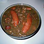 recette saucisses lentilles