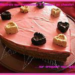 recette Bavarois aux framboises & fondant chocolat sur craquant aux spéculoos