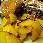 recette Hamburger aux épinards, pommes frites maison
