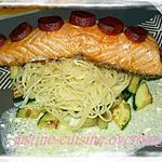 recette saumon au chorizo de Laurenceel