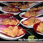 recette Feuilles de Carmine au Tartare de Saumon