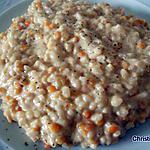 recette Risotto aux lentilles corail et gingembre frais