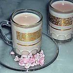 recette PANNA~COTTA~ROSE~BONBON