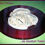Ravioles fraîches au saumon fumé