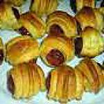 recette feuilletés aux saucisses de Strasburg
