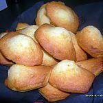 recette madeleines aux zestes de clémentine