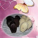 recette madeleine coque chocolat blanc et noir