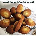 recette Madeleines au thé vert et au miel