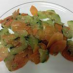recette courgettes et carottes au beurre et à l ail