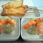 recette sucettes de crevettes et ses verrines