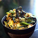 recette Oyako don (bol japonais au poulet)