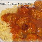 recette Boulettes de boeuf & poulet coeur mozarrella