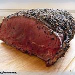 recette Filet de boeuf & sa croûte au poivre concassé
