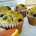 recette ~Muffins aux bananes et pépites de chocolat~