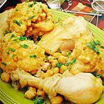 recette tajine de poulet au choux fleur et patate frites