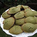 recette Madeleines au thé Matcha et au sésame