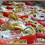 recette Tian de saumon aux courgettes