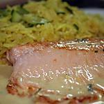 recette Filet de truite saumonée, sauce moutarde-orange