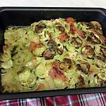 recette gratiné de légumes à la mozzarelle