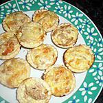 recette mini quiche au thon et a la tomate