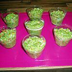 recette entrées au courgettes et surumi au basilic
