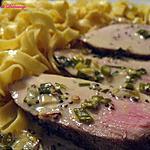 recette Filet de porc sauce à la moutarde et à l'estragon