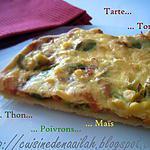 recette Tarte tomates-thon-poivrons-maïs