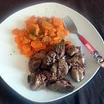 recette carottes vichy et ses foies de volailles