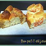 recette Brioche pommes-pralines rouges & coco. Brioche à la poudre de noix & rhum