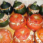 recette courgettes et tomates farcies