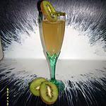 recette cocktail de champagne à la pèche