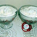 Fraise au sucre-grenadine-chantilly