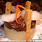 Délice poire, chocolat au sésame du Nicaragua et au gingembre du Laos