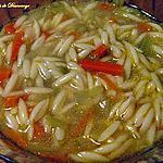 recette Soupe à l'orzo et aux légumes
