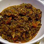 recette Lentilles tomates curry (prépa 30 mns)