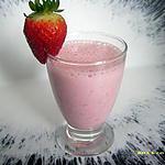 recette milk-shake aux fraises