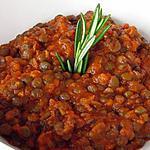 recette lentille a la tomate et poulet