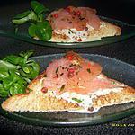 recette crostinis au saumon et à la crème de curry