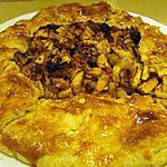 recette Tarte aux pommes, raisins, noix et cannelle