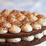 recette GATEAU CHOCOLAT MOUSSE AUX NOISETTES