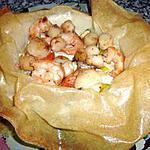 recette Fleur de fondue de poireaux et St Jacques
